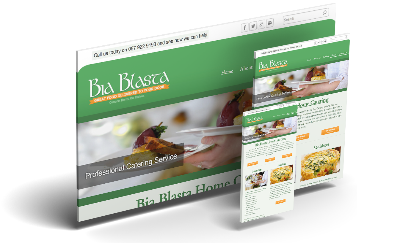 Bia Blasta Home Catering & Melode Web design & Digital Agency Waterford Ireland
