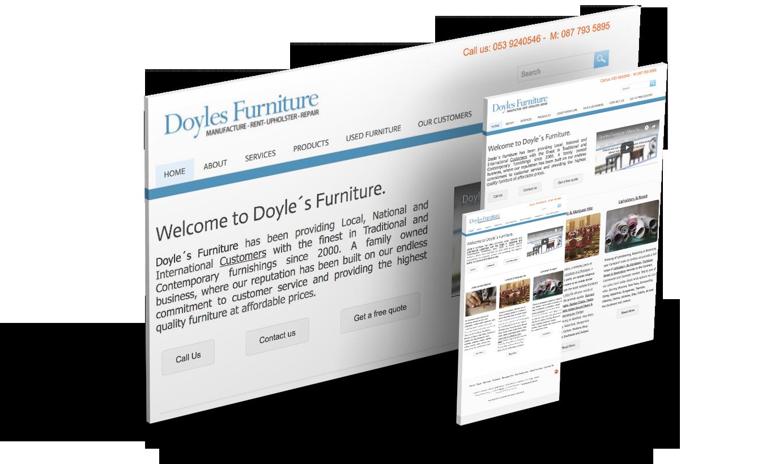 Doyles furniture & Melode Web Design & Digital Agency Waterford Ireland